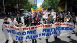 Asylum protesters