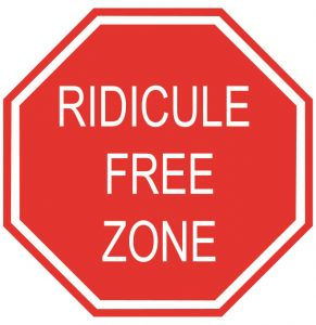 Ridicule free zone